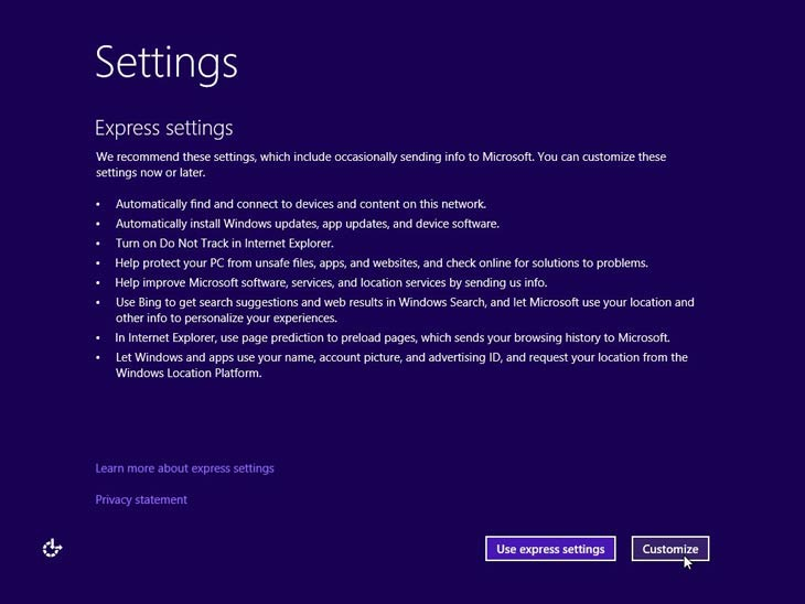 Windows 10 Custom settings