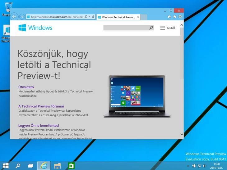 Windows 10 no keret