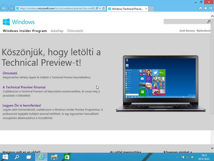 Windows 10 faltól-falig