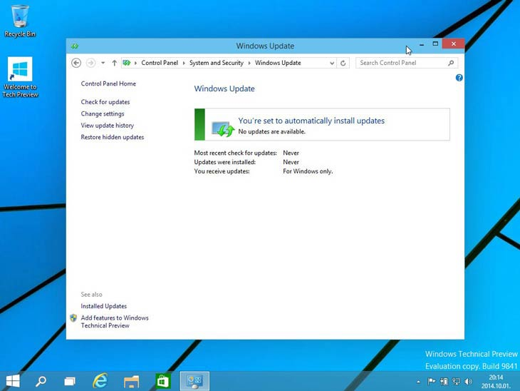 Windows 10 automatikus frissítés